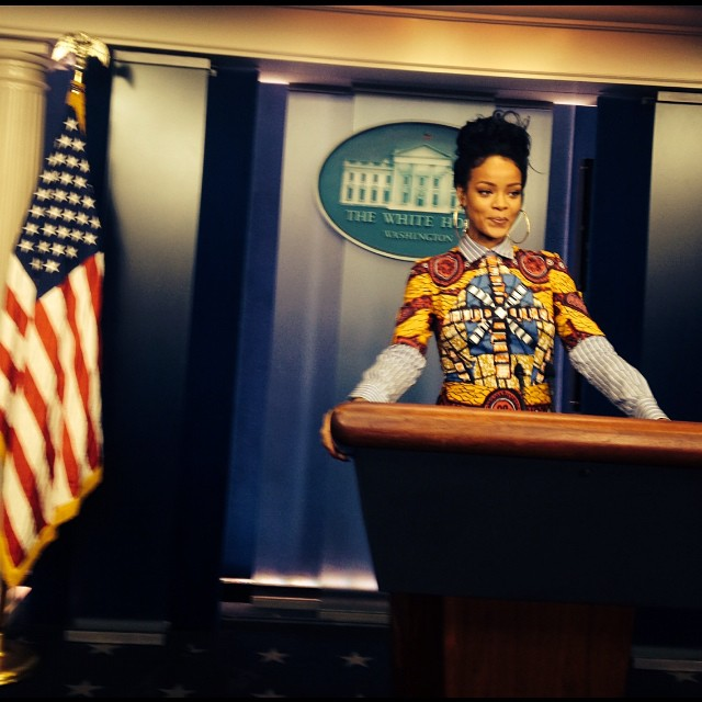 Rihanna dans la Press Room