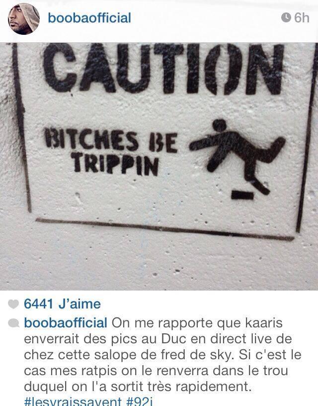 Booba sur Instagram