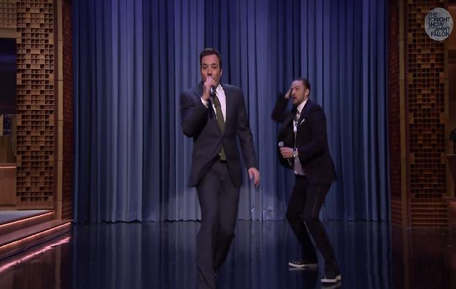 Jimmy Fallon & Justin Timberlake s'amusent sur l'histoire du rap