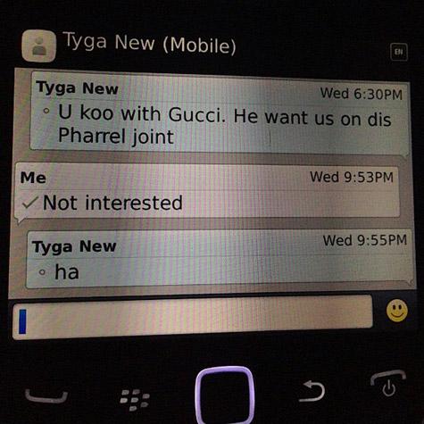 Conversation Tyga Nicki Minaj