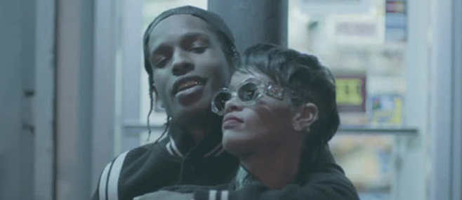 "Rihanna dans le clip ""Fashion Killa"" d' A$AP Rocky"