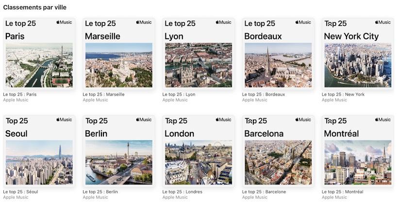 Apple Music Par Villes