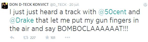 tweet d-teck